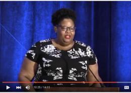 Natalie A. Collier speaking