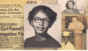 Claudette Colvin is a Civil Rights hero we all need to know who, at the age of 15, refused to give up her seat on a bus 9 months before Rosa Parks did. Her activism and impact has not received the recognition she is due, yet. (Photo screengrab CNN).