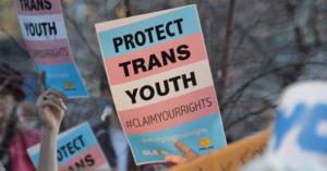 Protect Trans Youth signs